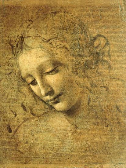 Head of a Young Woman La Scapigliata (the Lady of the Disheveled Hair)-Leonardo da Vinci-Premium Giclee Print