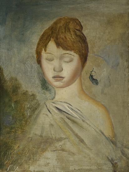 Head of a Young Woman; Tete De Jeune Femme, C.1887-Pierre-Auguste Renoir-Giclee Print