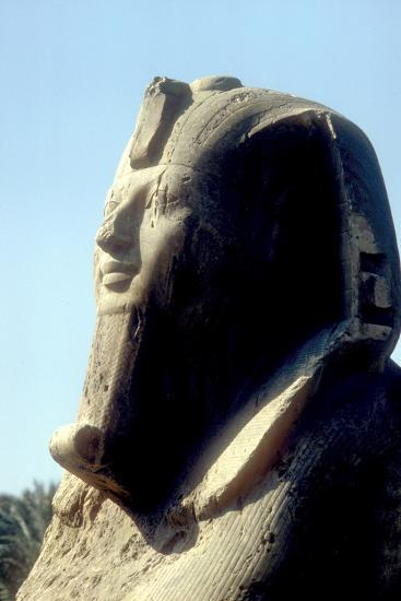 Head of Alabaster Sphinx, Memphis, Egypt, 18th or 19th Dynasty, C14th - 13th Century Bc-CM Dixon-Photographic Print
