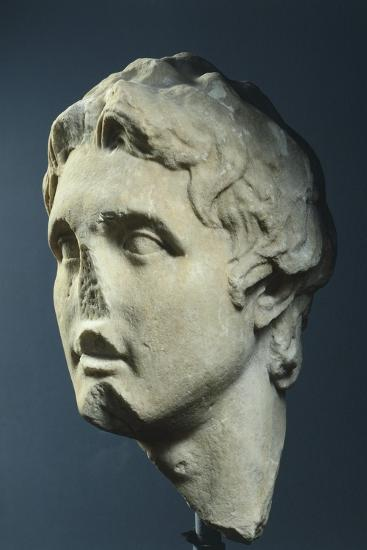 Head of Alexander, Copy from Augustan Age in Pentelic Marble from Hellenistic Original AD--Giclee Print