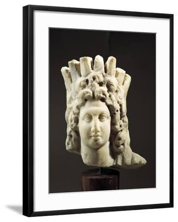 Head of Alexander Great-Helios Statue, 2nd-1st Century BC--Framed Giclee Print