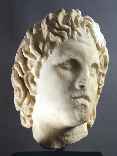 Head of Alexander Sculpture from Pella, Greece BC--Giclee Print