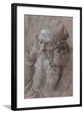 Head of an Old Man, 1521-Albrecht Dürer or Duerer-Framed Giclee Print