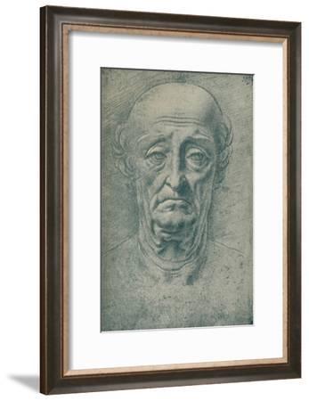 'Head of an Old Man', c15th century, (1932)-Leonardo da Vinci-Framed Giclee Print