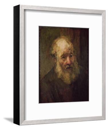 Head of an Old Man, circa 1650-Rembrandt van Rijn-Framed Premium Giclee Print