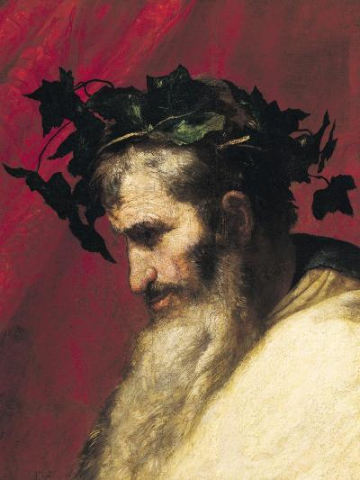 Head of an Old Man, Fragment from the Triumph of Bacchus-Jusepe de Ribera-Giclee Print