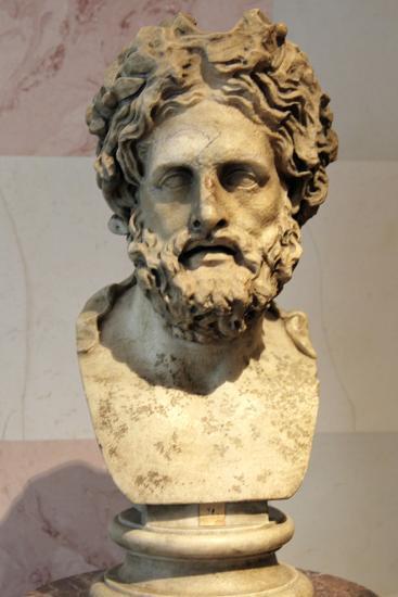 Head of Asklepios, Greek God of Healing--Photographic Print