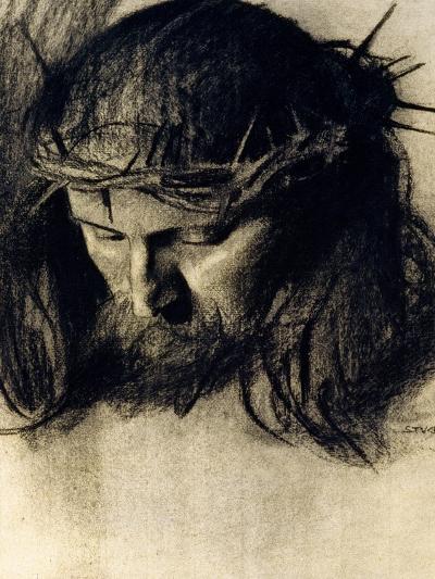 Head of Christ, circa 1890-Franz von Stuck-Giclee Print