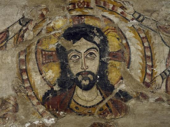 Head of Christ Supported by Two Angels--Giclee Print