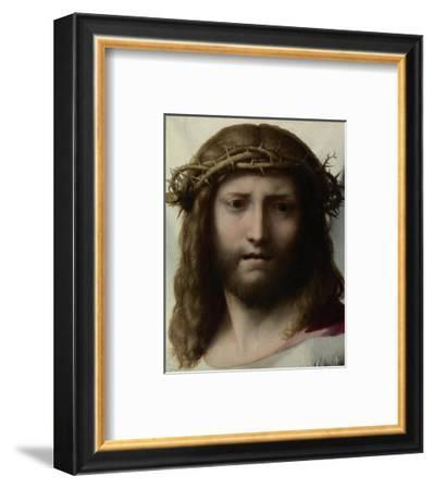 Head of Christ-Correggio (Antonio Allegri)-Framed Art Print