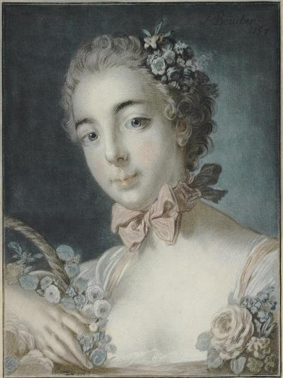 Head of Flora, 1769-Francois Boucher-Giclee Print