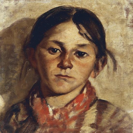 Head of Girl-Giulio Musso-Giclee Print