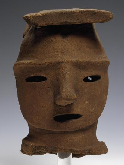 Head of Haniwa, Ritual Pottery from Saitama, Japan,--Giclee Print
