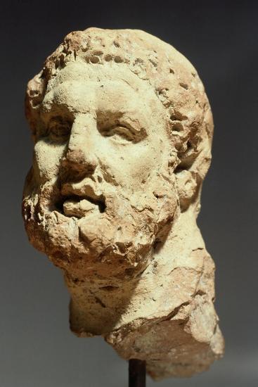 Head of Hercules, Sculpture from Kherson, Ukraine, 3rd-2nd Century BC--Giclee Print