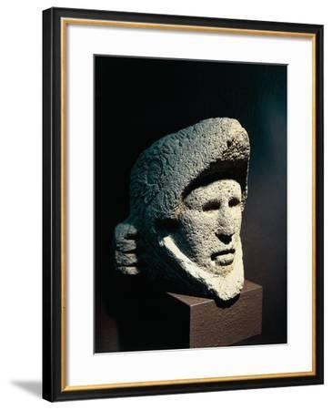 Head of Horseman Wearing Helmet in the Shape of an Eagle, Mexico, Aztec Civilization--Framed Giclee Print