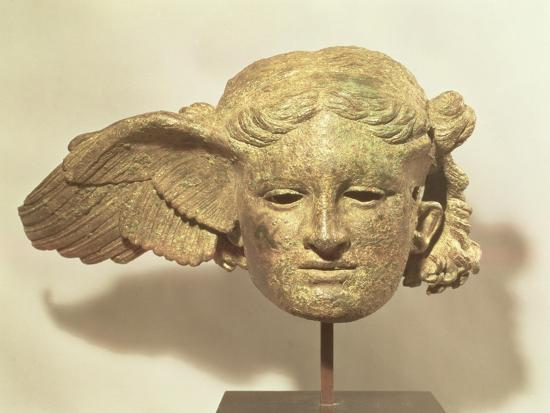 Head of Hypnos, or Sleep, an Auxiliary of Hades, Represented as a Winged Youth--Premium Giclee Print
