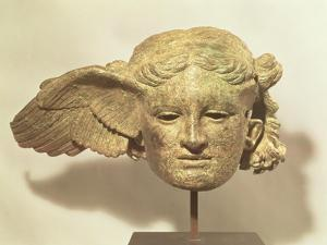 Head of Hypnos, or Sleep, an Auxiliary of Hades, Represented as a Winged Youth