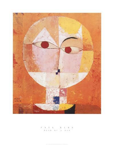 Head of Man, Going Senile, c.1922-Paul Klee-Art Print
