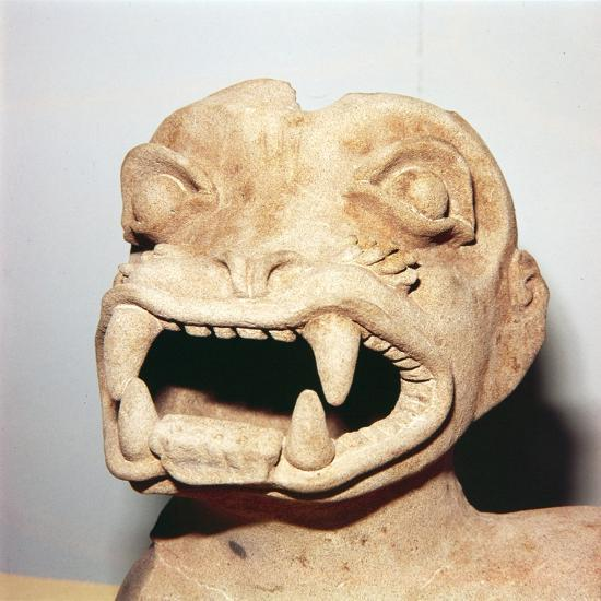Head of Monster on Pot, from Ecuador, Pre Columbian-Unknown-Giclee Print