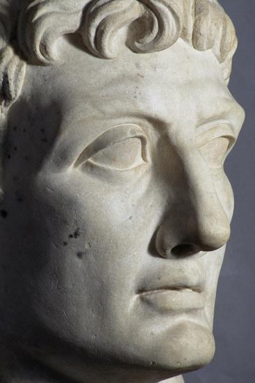 Head of Octavian Sculpture, Detail, Roman Period BC--Giclee Print