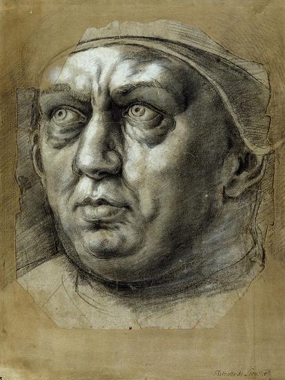 Head of Pope Leo X-Giulio Romano-Giclee Print