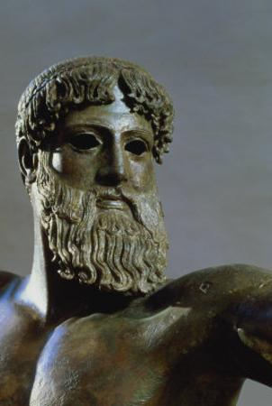 Head of Poseidon, circa 460-450 BC (Detail)