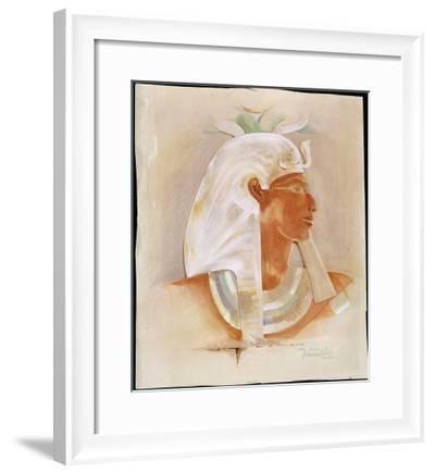 Head of Queen Makare Hatshepsut-Howard Carter-Framed Giclee Print