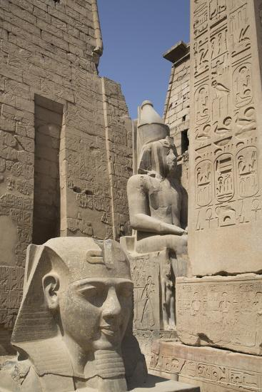 Head of Ramses Ii in Foreground and Colosssus of Ramses Ii Behind-Richard Maschmeyer-Photographic Print