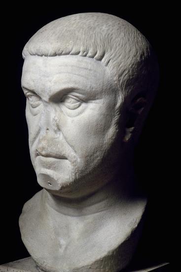Head of Roman Emperor Maximian, 3rd Century--Giclee Print