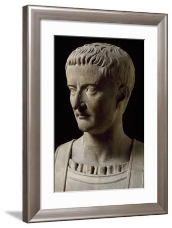Head of Roman Emperor Tiberius--Framed Giclee Print