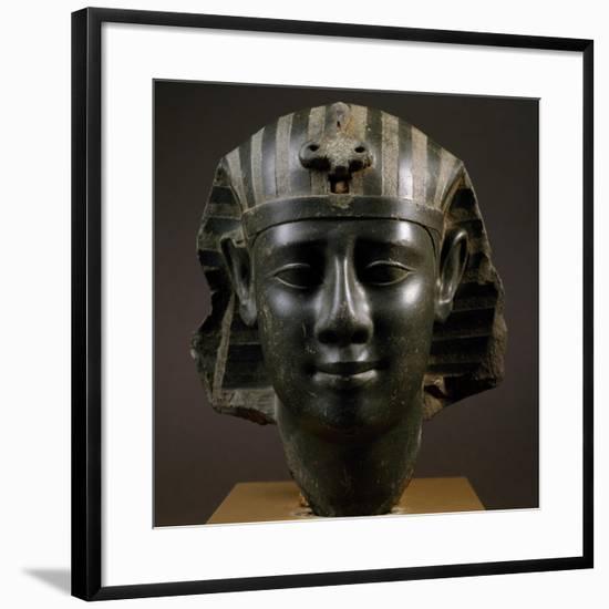 Head of Royal Man Wearing Nemes Headdress--Framed Giclee Print