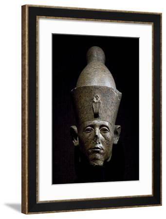 Head of Sesostris III, Red Granite Statue, from the Temple of Amun at Karnak--Framed Giclee Print