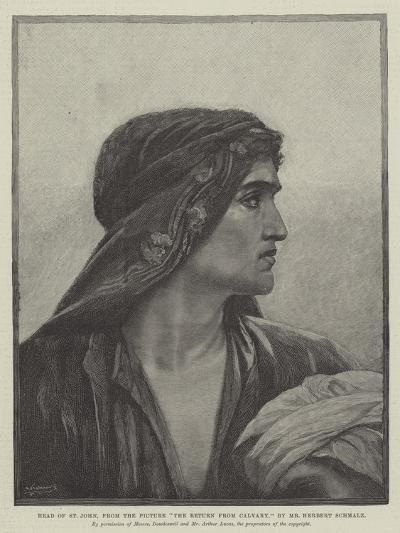 Head of St John, from the Picture The Return from Cavalry-Herbert Gustave Schmalz-Giclee Print
