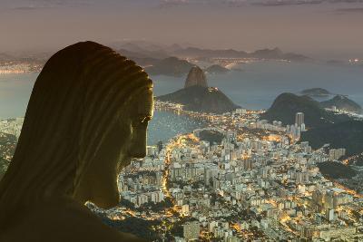 Head of Statue of Christ the Redeemer, Corcovado, Rio De Janeiro, Brazil, South America-Angelo-Photographic Print