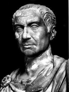 Head of Statue of Julius Caesar, Roman General and Statesman