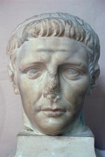 Head of the Roman emperor Claudius, 1st century. Artist: Unknown-Unknown-Giclee Print