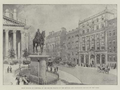 Head Offices, in Cornhill, of the British Branch of the Mutual Life Insurance Company of New York-Joseph Holland Tringham-Giclee Print