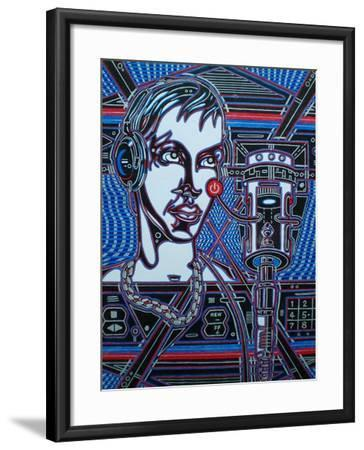 Head Phones-Abstract Graffiti-Framed Giclee Print