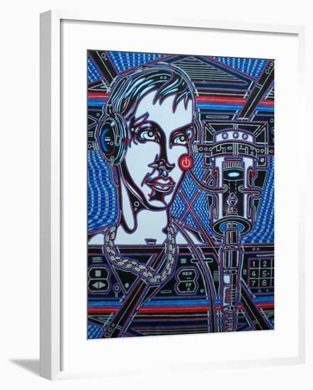 Head Phones-Abstract Graffiti-Framed Giclee Print