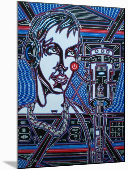 Head Phones-Abstract Graffiti-Mounted Giclee Print