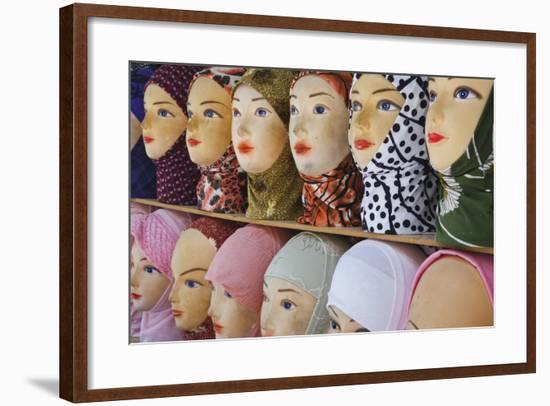 Head Scarves for Sale in the Muslim Quarter-Jon Hicks-Framed Photographic Print