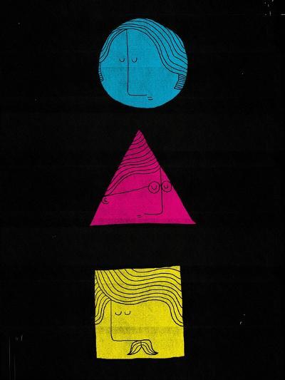 Head Shapes-Dale Edwin Murray-Giclee Print