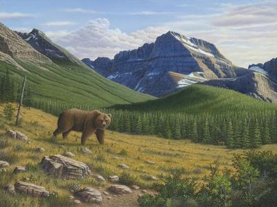 Heading Down the Slope-Robert Wavra-Giclee Print
