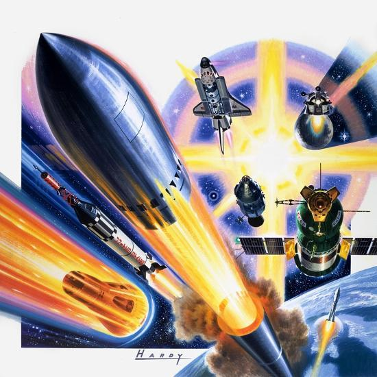 Heading for Space-Wilf Hardy-Giclee Print