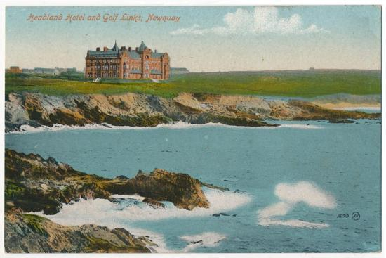 'Headland Hotel and Golf Links, Newquay', c1910-Unknown-Giclee Print
