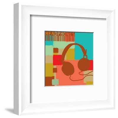 Headphones-Yashna-Framed Art Print