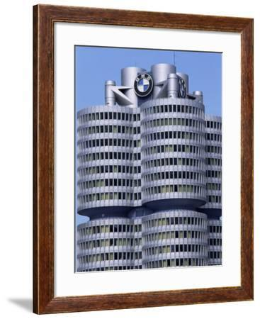 Headquarters of Bmw, Munich, Bavaria, Germany-Hans Peter Merten-Framed Photographic Print
