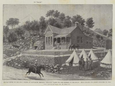 Headquarters of General Sir G White at Ladysmith, Showing Dug-Out Made for the General by His Staff-Melton Prior-Giclee Print