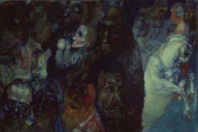 Heads, 1910-Pavel Nikolayevich Filonov-Giclee Print