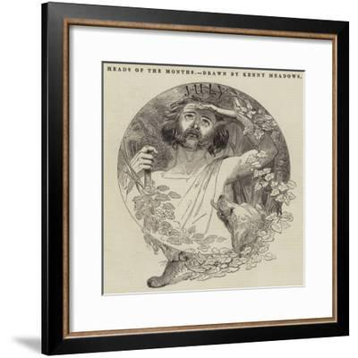 Heads of the Months-Joseph Kenny Meadows-Framed Giclee Print